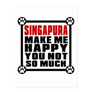 SINGAPURA FAZEM-NO ME FELIZ NÃO TANTO CARTÃO POSTAL