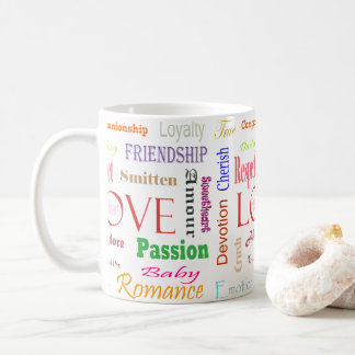 Sinónimos do amor por Shirley Taylor Caneca De Café