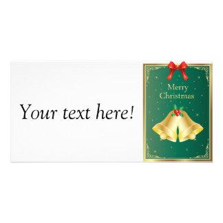 Sinos de Natal Cartão Com Fotos