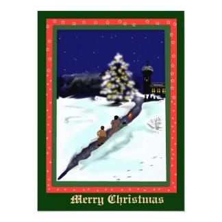 sinos de Natal Convite 13.97 X 19.05cm