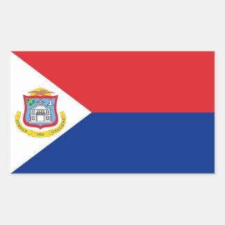 Sint Maarten, bandeira de St Martin, Dutch/Países Adesivo Retangular