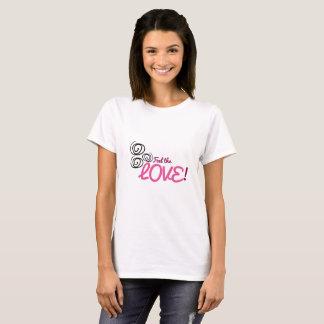 Sinta os rosa do amor, roxos com redemoinhos camiseta