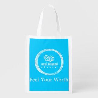 Sinta seu saco reusável do valor sacola ecológica para supermercado