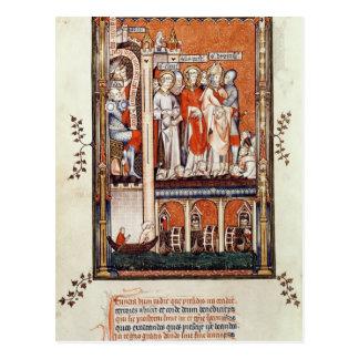 Sisinnius que mostra os corpos de outro cartão postal