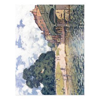 Sisley, Br de Alfred? Hampton Court de von do cke Cartão Postal