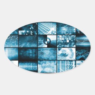 Sistema de gestão integrado adesivo oval