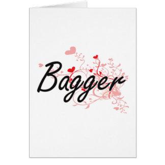 Sistema de trabalho artístico do Bagger com Cartão Comemorativo