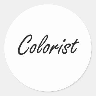 Sistema de trabalho artístico do Colorist Adesivo