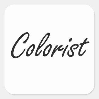 Sistema de trabalho artístico do Colorist Adesivo Quadrado