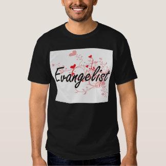 Sistema de trabalho artístico do evangelista com t-shirt