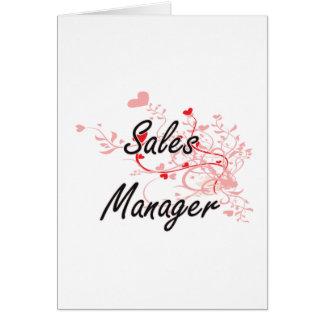 Sistema de trabalho artístico do gerente de vendas cartão comemorativo