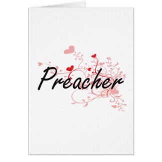 Sistema de trabalho artístico do pregador com cartão comemorativo