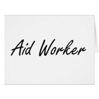 Sistema de trabalho artístico do trabalhador de cartão comemorativo grande