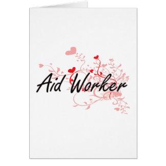 Sistema de trabalho artístico do trabalhador de cartão comemorativo