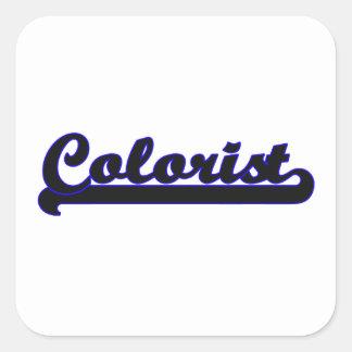 Sistema de trabalho clássico do Colorist Adesivo Quadrado