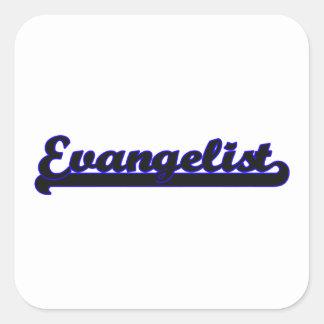 Sistema de trabalho clássico do evangelista adesivo quadrado
