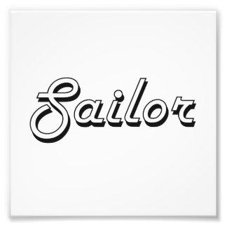 Sistema de trabalho clássico do marinheiro impressão de foto