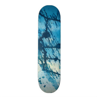 Skate A tinta azul abstrata Splatters o design Funky do