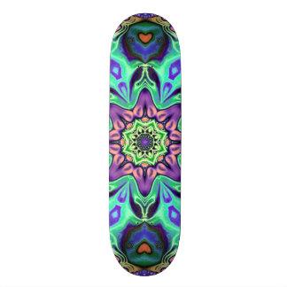 Skate Abstrato da mandala de turquesa