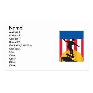 Skate americano cartão de visita