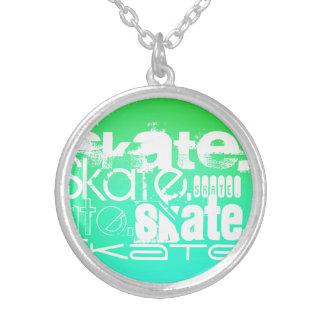 Skate; Aqua, inclinação verde de néon Bijuteria Personalizada