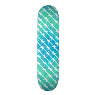Skate Arame farpado azul Barb do diamante que cerca o