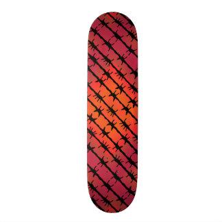 Skate Arame farpado vermelho Barb da oxidação que cerca