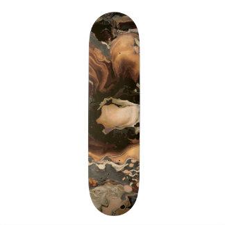 Skate Arte líquida da pintura da textura de mármore