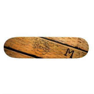 Skate As pranchas de madeira Monogrammed carimbaram w