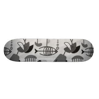 Skate atômico preto e branco do teste padrão