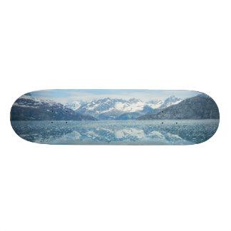 Skate azul da reflexão