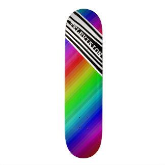 Skate Bares de cor verticais da tevê do arco-íris da