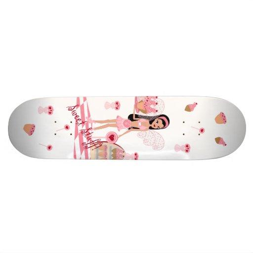 Skate branco feericamente da loja dos doces