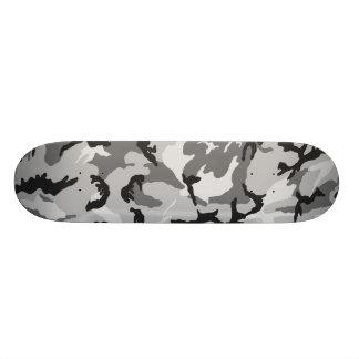 Skate Camuflagem do preto do branco cinzento