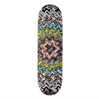 Skate Caos concêntrico colorido