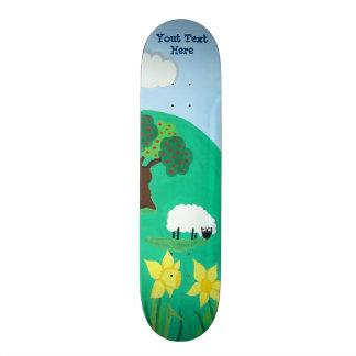 Skate carneiros engraçados que pastam a ilustração
