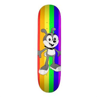 Skate clássico do arco-íris do coelho dos desenhos