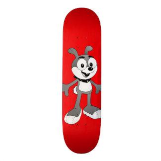 Skate clássico do vermelho do coelho dos desenhos
