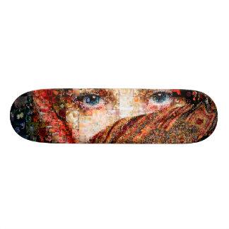 Skate Colagem-olho-menina beduína do menina-olho do