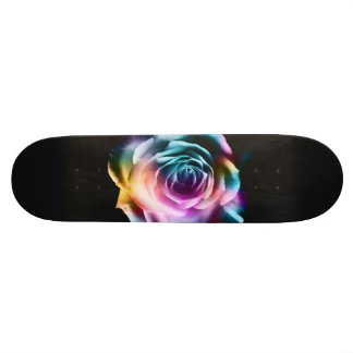 Skate colorido do rosa da tintura do laço