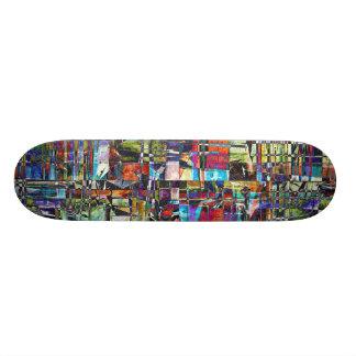 Skate Composto caótico colorido