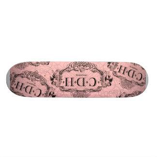 Skate cor-de-rosa da consciência de CDH