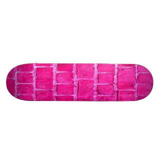 Skate cor-de-rosa feminino retro original da pared