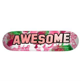 Skate cor-de-rosa frutado impressionante da baga