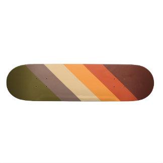 Skate Cores do outono - amarelo alaranjado vermelho Tan