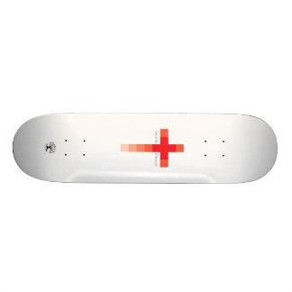 Skate Cruz vermelha