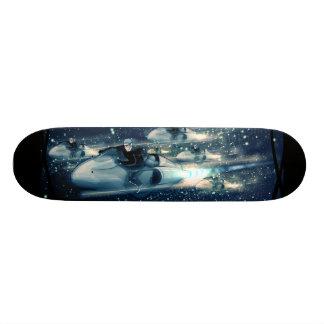 Skate Cruzador retro do espaço - a raça