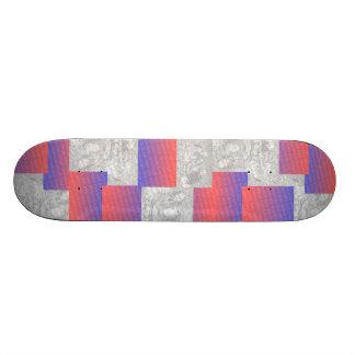 Skate customizável da colagem da foto