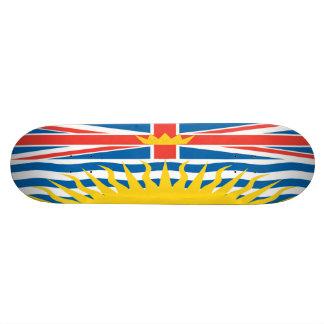 Skate da bandeira do Columbia Britânica