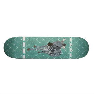 Skate da estrela do Grunge da zebra do azul de índ